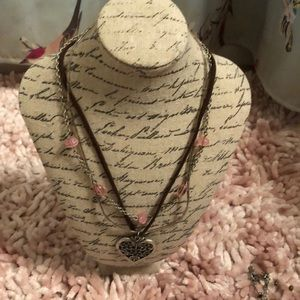 Leather and beaded necklace ⭐️ 2 for $15